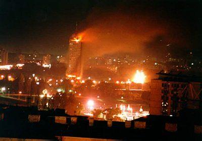 Snímek z Bělehradu.